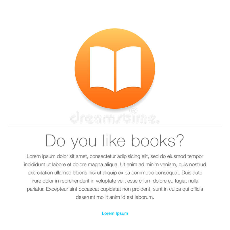 Ebook icon. E-book symbol royalty free illustration