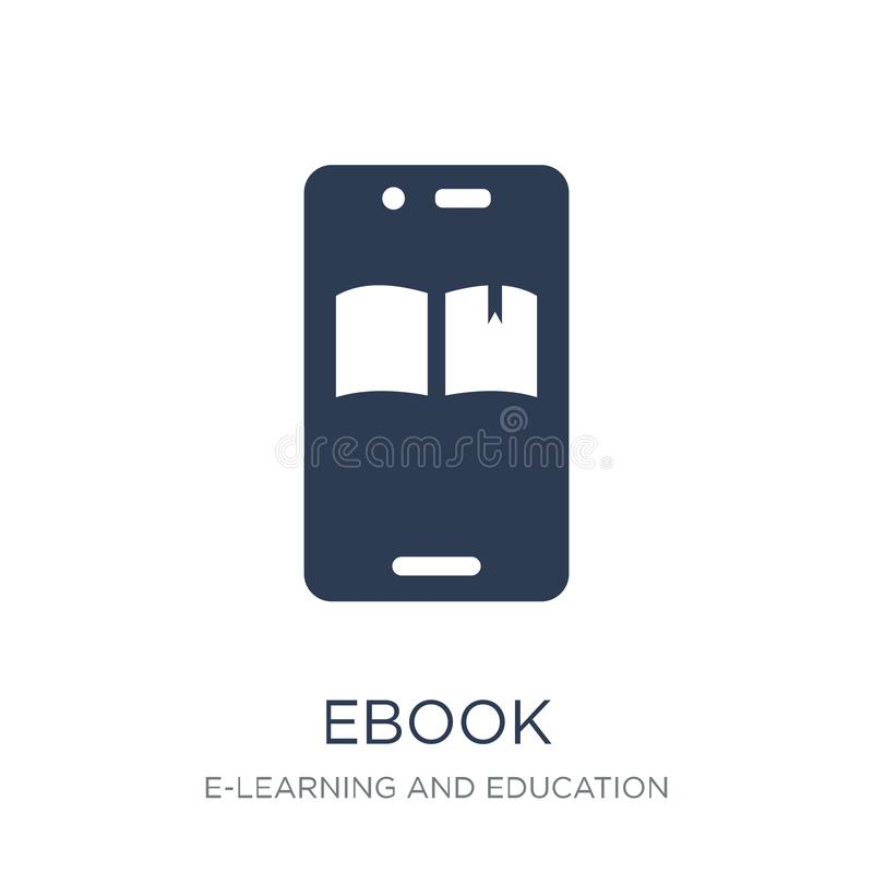Ebook icon. Trendy flat vector Ebook icon on white background fr. Om E-learning and education collection, vector illustration can be use for web and mobile royalty free illustration