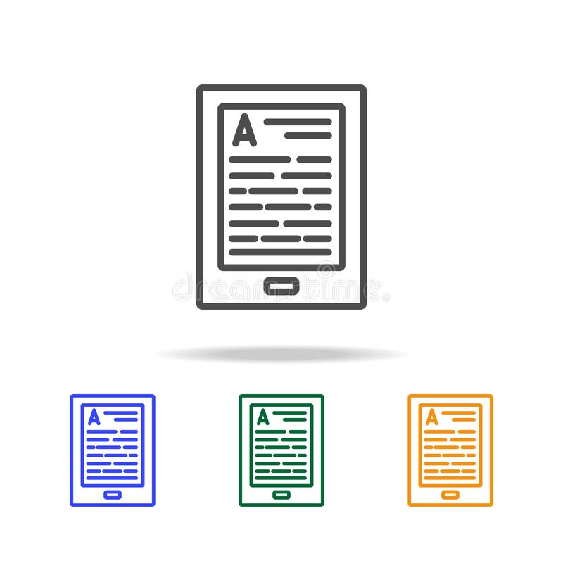 EBook icons. Element of edecation for mobile concept and web apps. Thin line icon for website design and development, app develop. Ment. Premium multicolor icons royalty free stock photography
