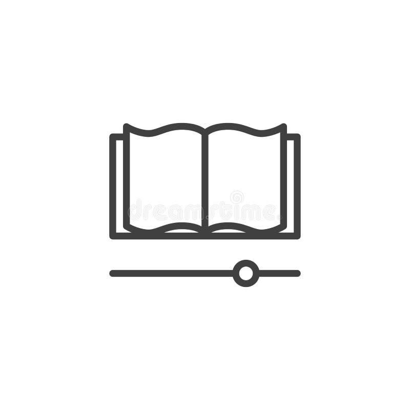 EBook läsninglinje symbol vektor illustrationer