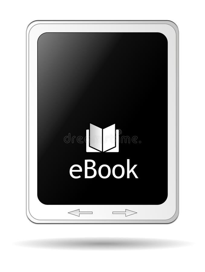 Ebook-Leser lokalisiert lizenzfreie abbildung