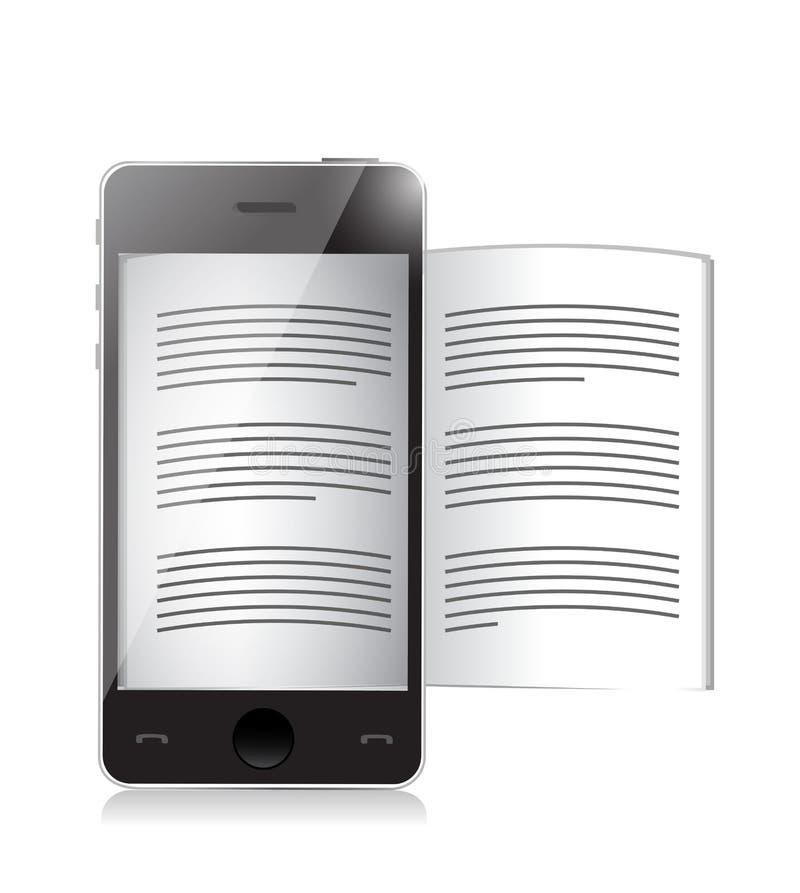 Ebook-Leser. Smartphoneillustrationsdesign stock abbildung