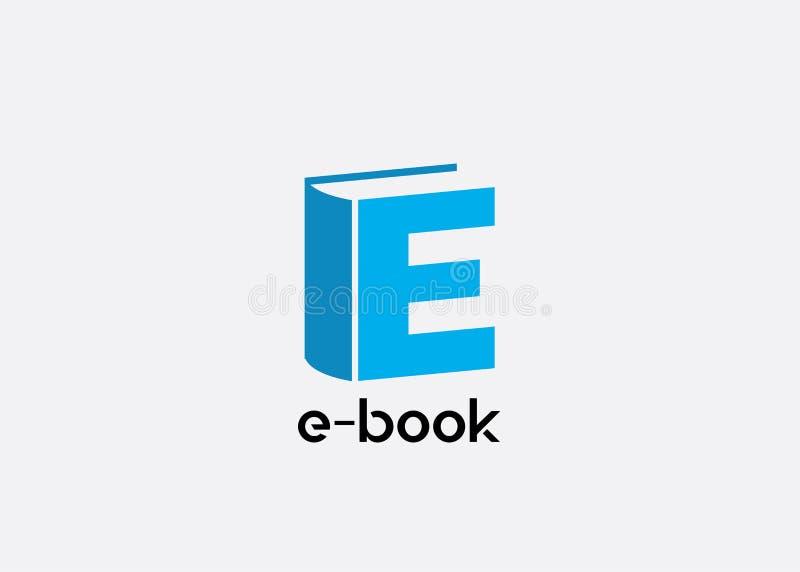 Ebook logo ikony projekta wektor royalty ilustracja