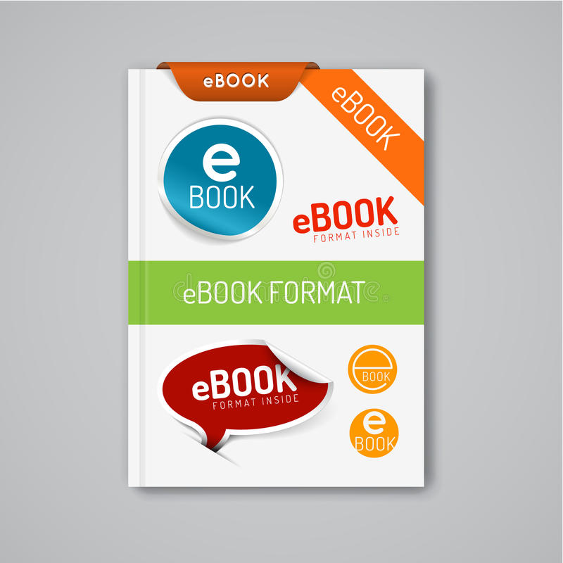Ebook markers - stickers, corners, labels royalty free illustration