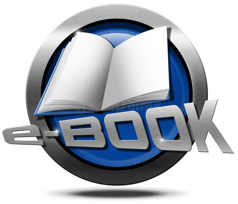 EBook - metallische Ikone lizenzfreie abbildung