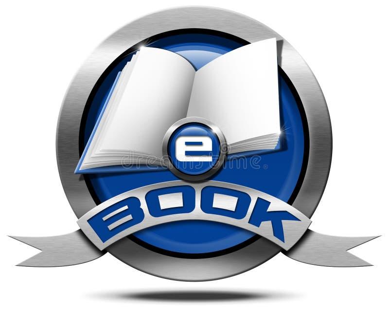 EBook - metallische Ikone stock abbildung