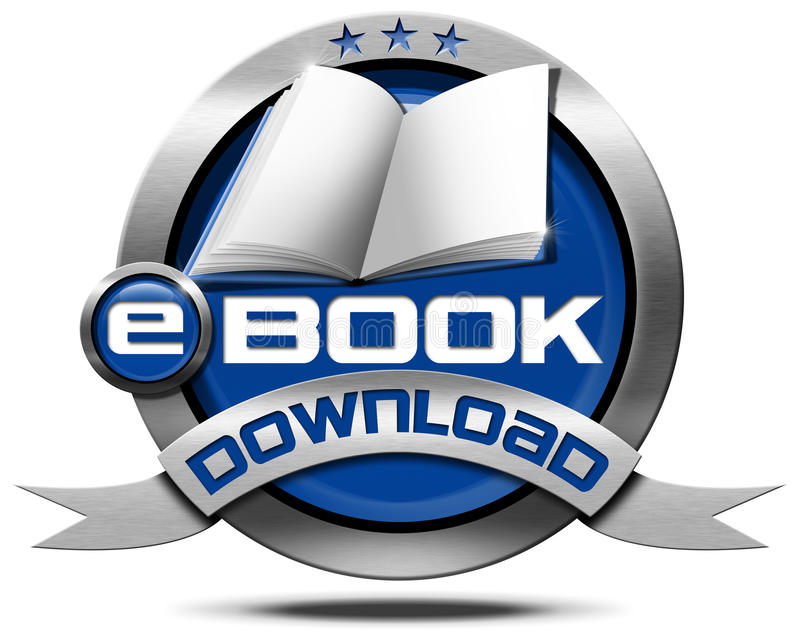 EBook nedladdning - metallisk symbol vektor illustrationer