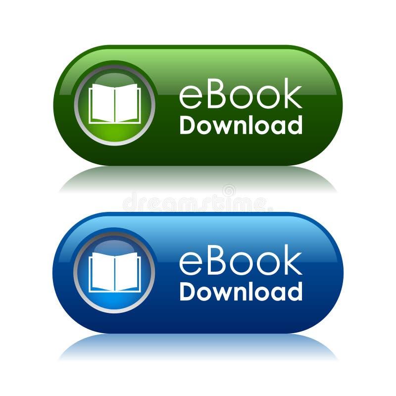 Ebook nedladdningknappar stock illustrationer