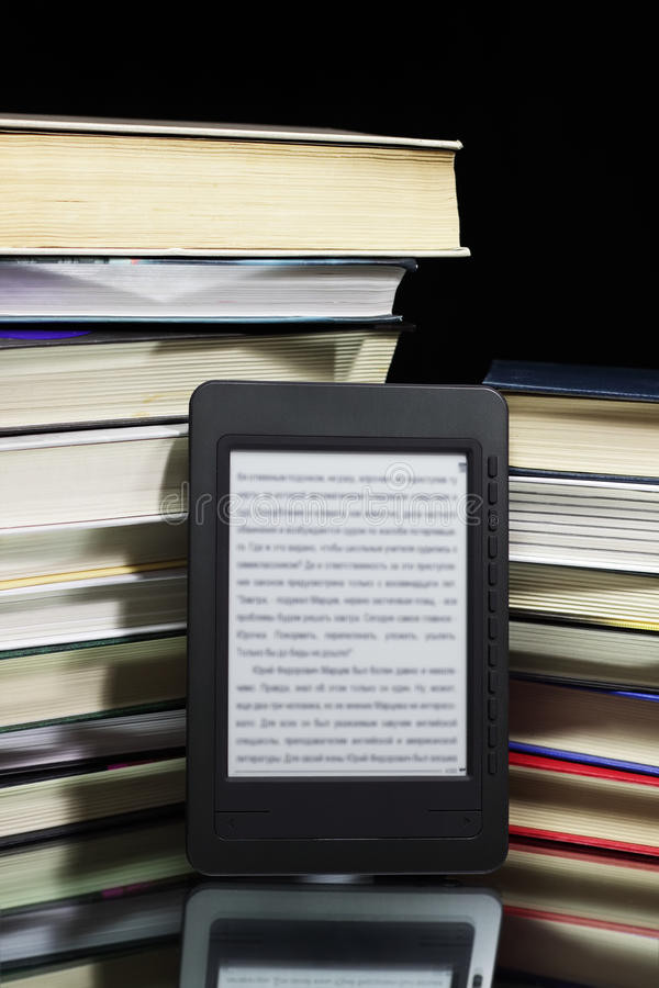 Download Ebook reader stock image. Image of concept, stacked, modern - 17739781