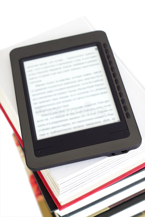 Ebook reader royalty free stock photo