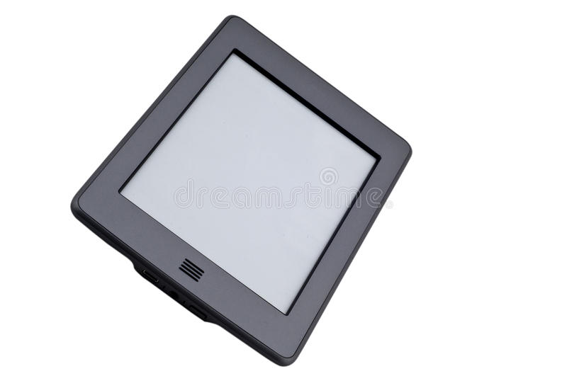 Ebook reader device. On isolated white background royalty free stock photography