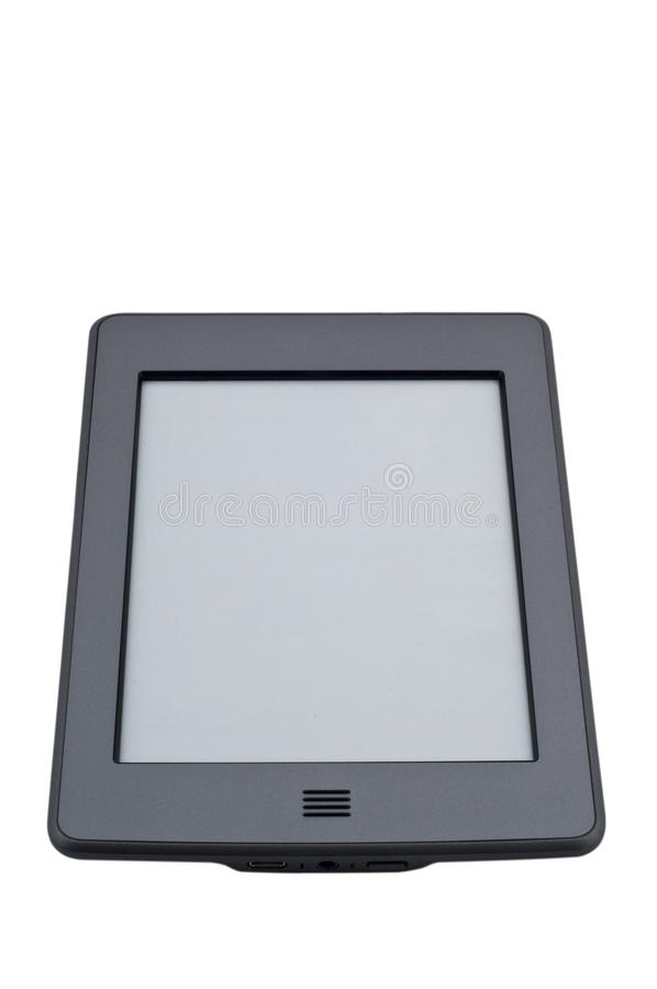 Ebook reader device. On isolated white background stock images
