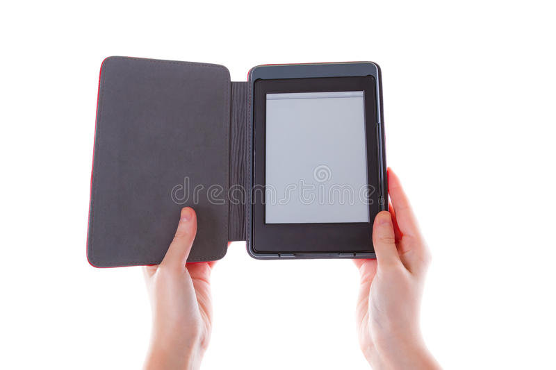 Download Ebook Reader In Hands With Blank Screen Stock Image - Image of literature, object: 29456761