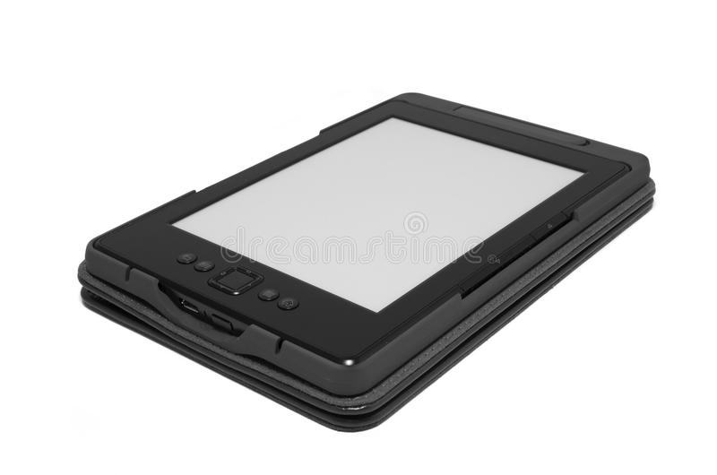 EBook reader. Isolated on white stock photography