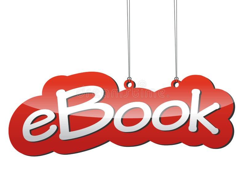 Ebook rouge de fond de vecteur illustration libre de droits