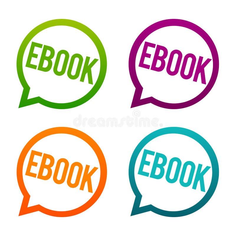 Ebook rundaknappar Vektor för cirkel Eps10 stock illustrationer