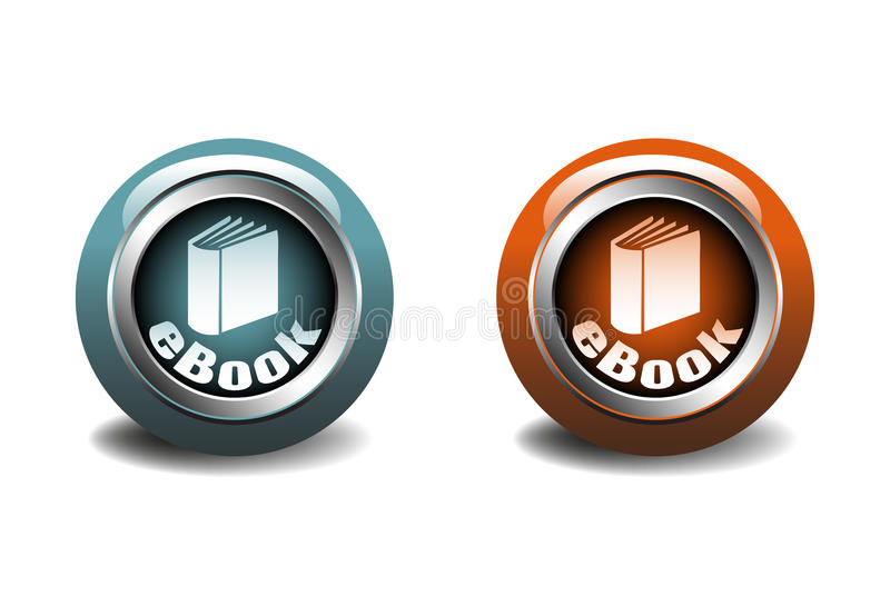 Ebook Tasten stock abbildung