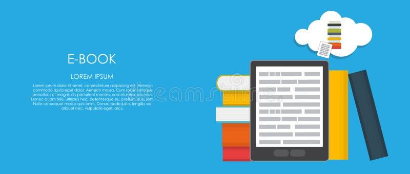 EBook Vectorillustratie Vlakke gegevensverwerking stock illustratie