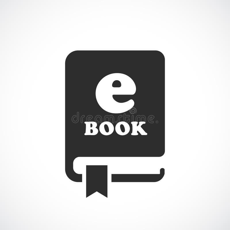 EBook vektorpictogram vektor illustrationer