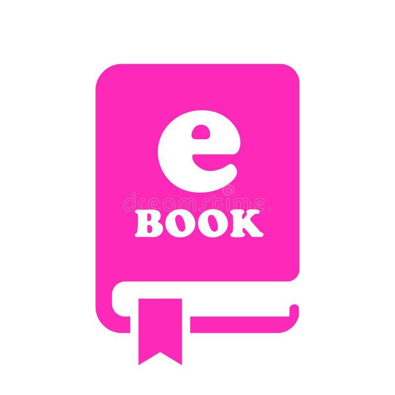 EBook vektorsymbol vektor illustrationer