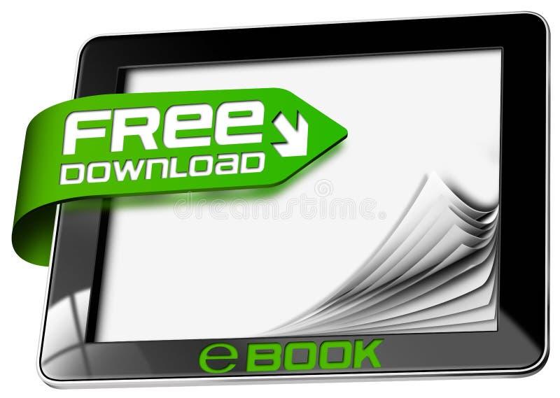 EBook Vrije Download - Tabletcomputer royalty-vrije illustratie
