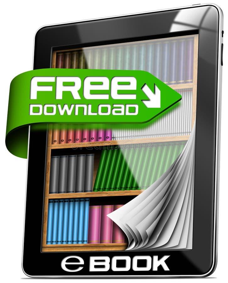 EBook Vrije Download - Tabletcomputer vector illustratie