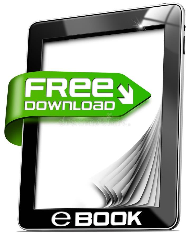 EBook Vrije Download - Tabletcomputer stock illustratie