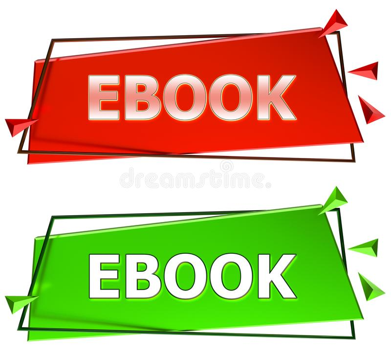 Ebook-Zeichen stock abbildung