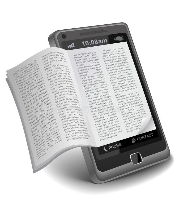 ebooksmartphone stock illustrationer