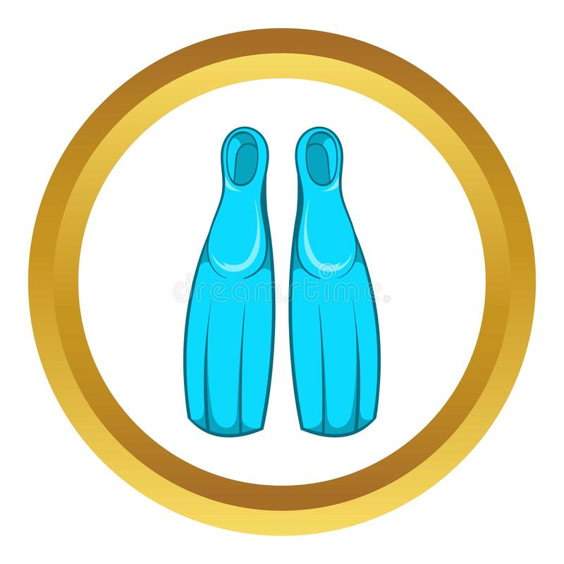 Żebra dla nurkowej wektorowej ikony royalty ilustracja