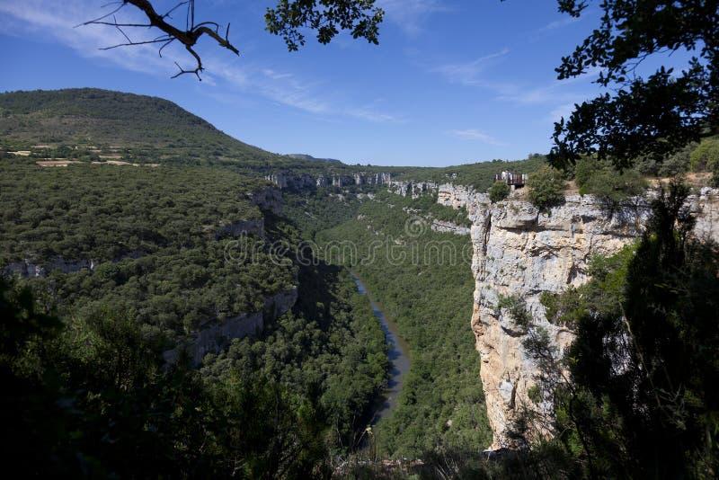 Ebro峡谷,布尔戈斯 免版税库存照片