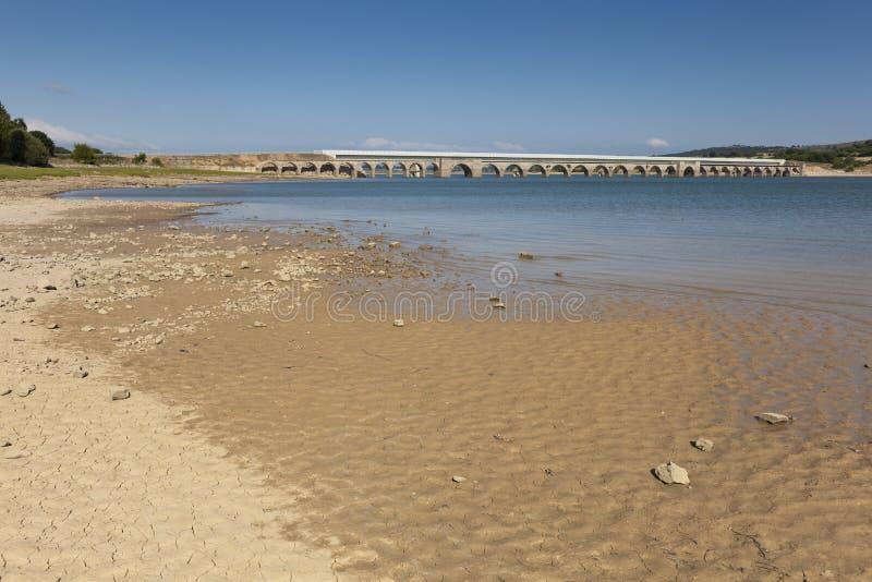 Ebro水库,布尔戈斯 免版税图库摄影