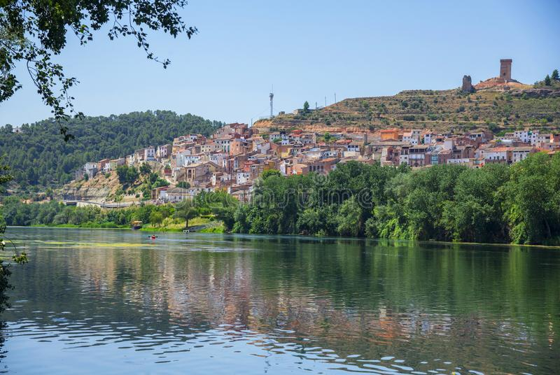 Ebro river in South Catalonia, Spain royalty free stock photography