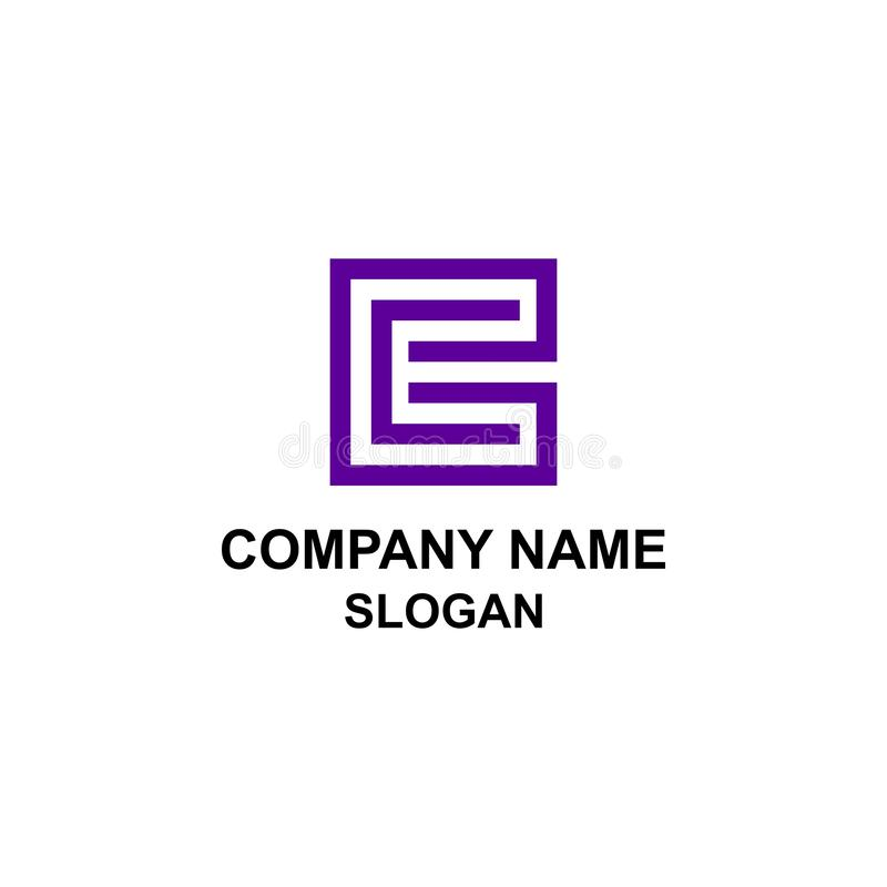 EC initial letter square logo. royalty free illustration