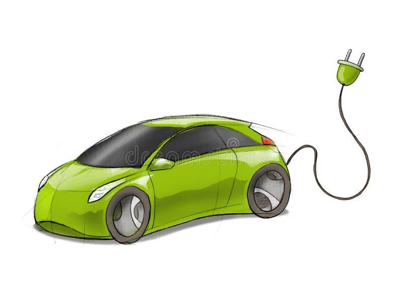 Ecar-vert illustration stock