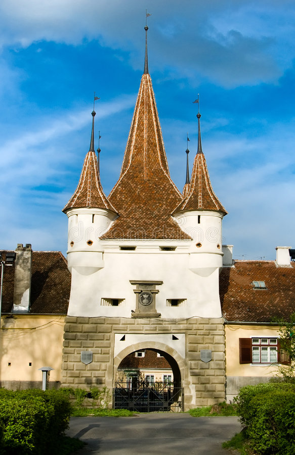 Ecaterin Gate Brasov Romania royalty free stock photo