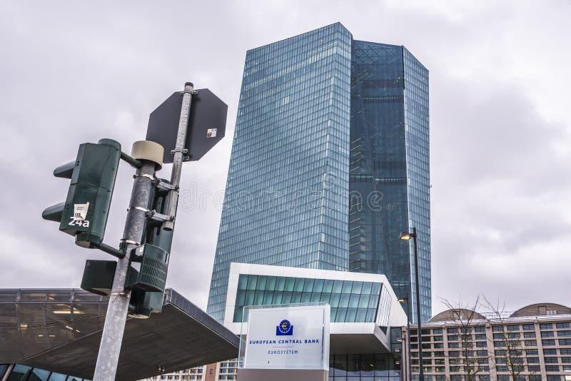 ECB -欧洲央行建筑 免版税库存图片