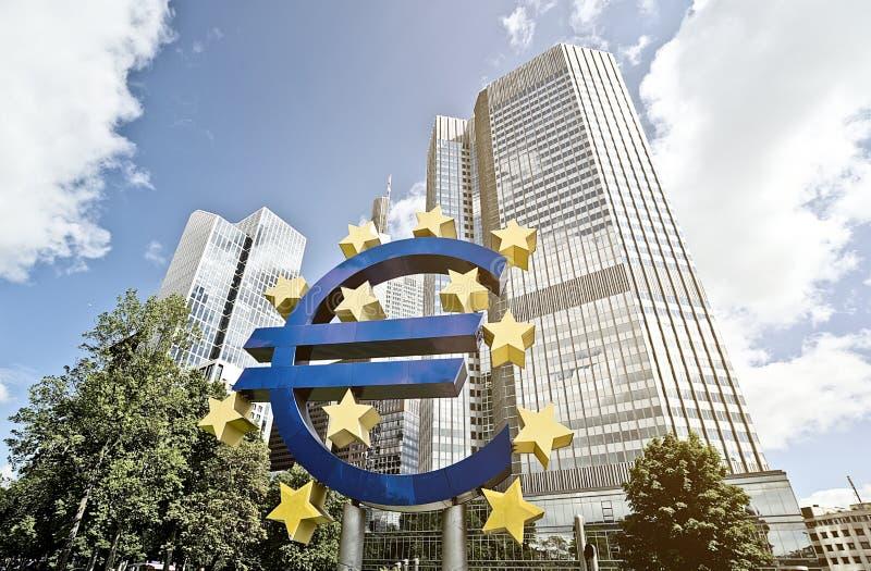 ECB dell'euro fotografia stock libera da diritti