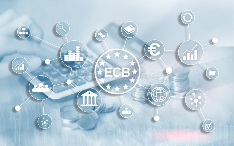ECB European central bank Business finance concept stock illustration