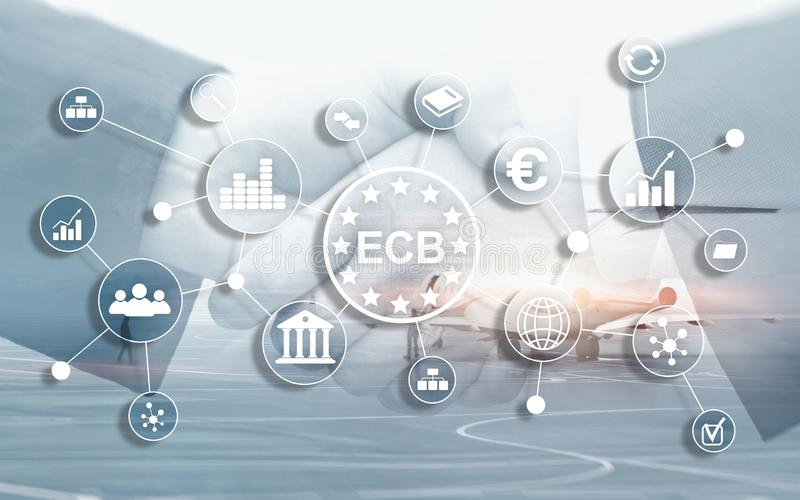 ECB European central bank Business finance concept. royalty free illustration