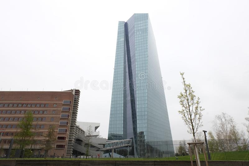 ECBECB i Frankfurt arkivfoton