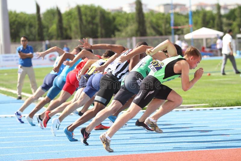 ECCC zawody atletyczni juniory Grupują A obraz stock