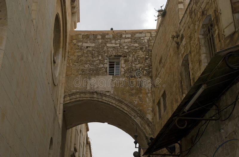 Ecce homo łuk, Jerozolima, Izrael obraz stock