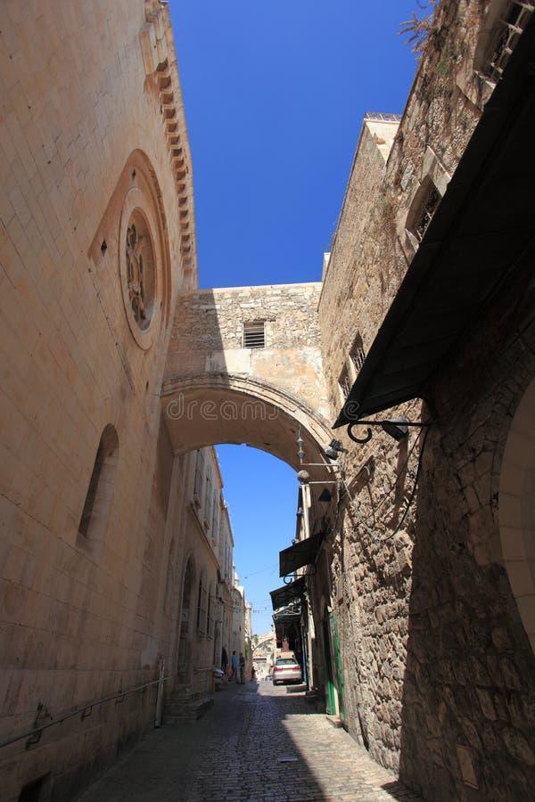 Ecce Homo arco, via Dolorosa, Gerusalemme fotografia stock libera da diritti