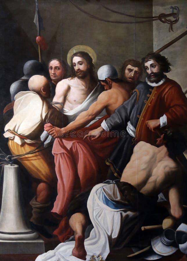 Ecce. Homo, church of Saint Vitale. Parma. Emilia-Romagna. Italy stock images