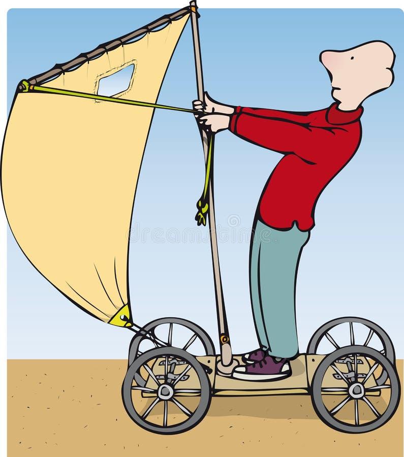 Eccentric inventor stock illustration