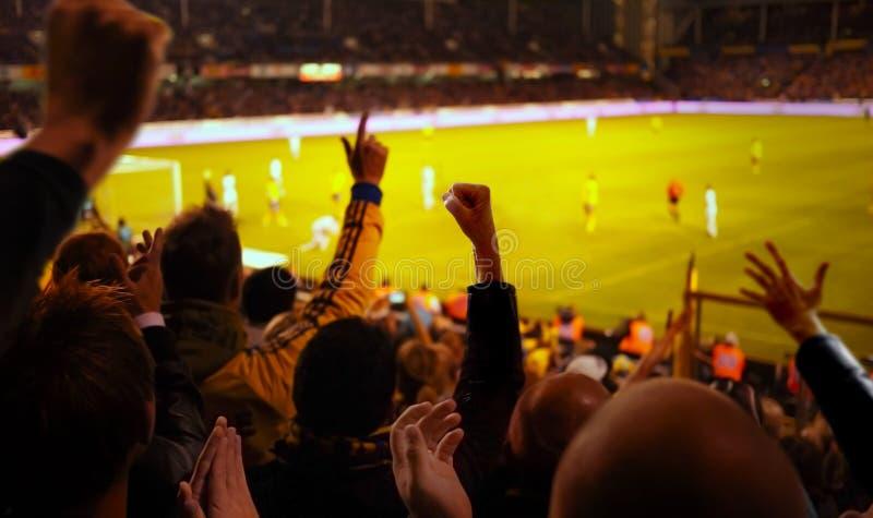 Eccitamento di gioco del calcio immagini stock libere da diritti