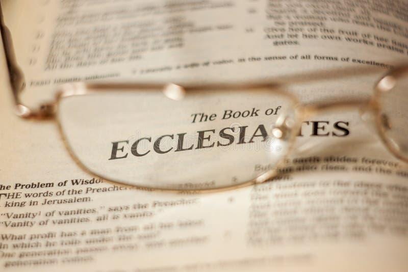 ecclesiastes obraz stock