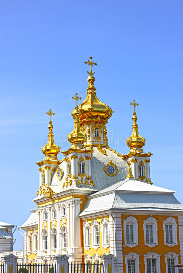 Ecclesiastical housing of the palace. On July 10, 2013 in St. Petersburg, Russia royalty free stock images