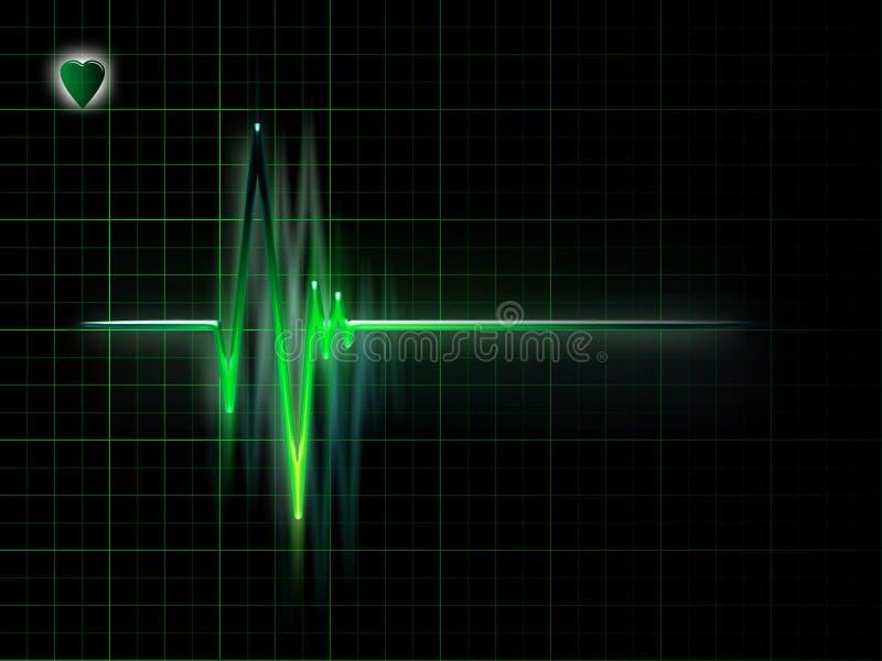 Download ECG stock illustration. Illustration of illness, coronary - 15809280